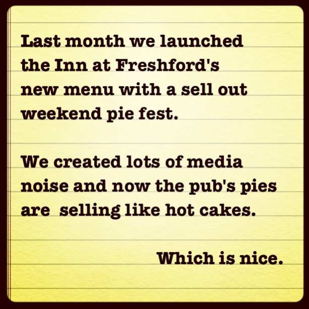 Inn at Freshford (Pie Fest) PR results