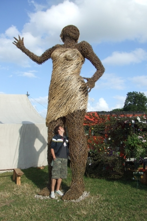 Incredible wicker creations in the Green Fields, Glastonbury 2005