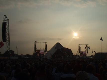 Pyramid Stage sundown