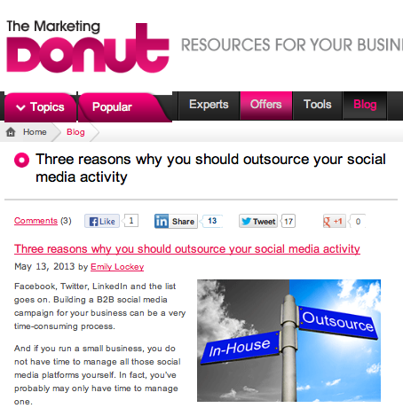 Three reasons why you should outsource your social media activity