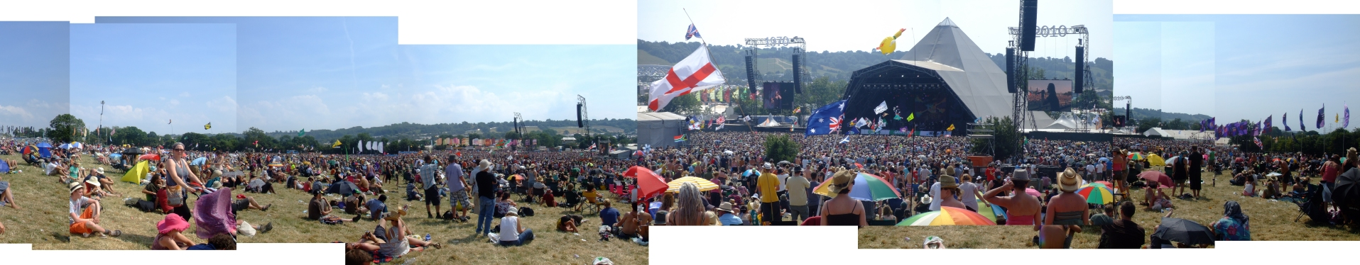 Glastonbury Festival montage